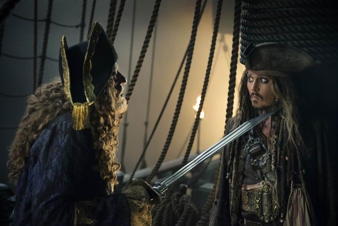 Pirates Of The Caribbean 5: Salazars Rache : Bild Geoffrey Rush, Johnny Depp